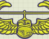 Winged Jet Custom Digitized Embroidery Design (private listing)