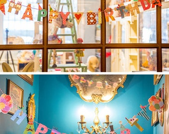 Easy DIY Paper Bunting, Party Flag, Home Decoration - Happy Birthday, Happy Party