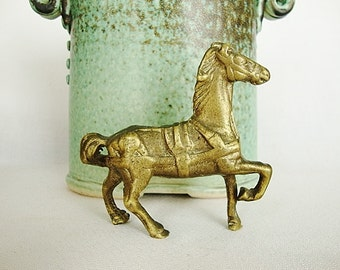 vintage horse small brass metal horse pony figurine