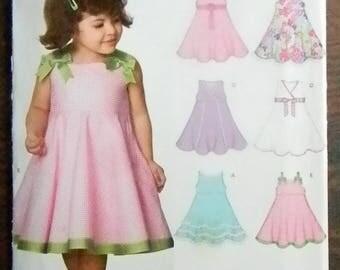 New Look Girls Summer Dress Pattern #6688, Uncut, Multisized