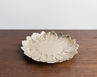 Vintage brass flower dish