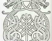Reserved Listing for Amanda - Celtic Wedding Handfasting Cloth in Linen - MADE TO ORDER
