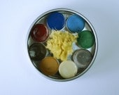 RESERVED: The Coastal Palette, Anthesis Arts Artisanal Handcrafted Watercolor Paints, Small Petal Caps, Round Travel Set of Eight