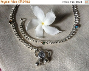 ON SALE Mystical Eyes Tribal Indian Ankle Bracelets - single OR pair