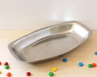 WMF tischfein stainless steel dish or tray. Made in Germany.