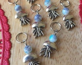 SALE Jellyfish Bloom: Set of 4 Beautiful Jellyfish Stitch Markers for Ocean Loving Crafters