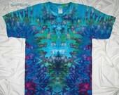 20% off sale tie dye, large ice dye, funky inkblot ice dye design, tie dye t shirt by gratefuldan, psychedelic tie dye shirt, music festival