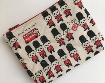 British Guard Panda Zipper Pouch,English Panda Wallet, Panda Coin Purse, Panda Zipper Bag, Panda Money Holder