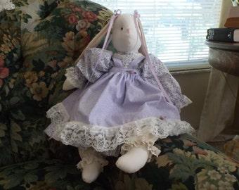Handmade  Violet  Stuffed Bunny Rabbit