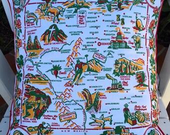 """Colorado Pillow Cover, 18"""" Colorado Souvenir Pillow, Summer Road Trip Colorado"""