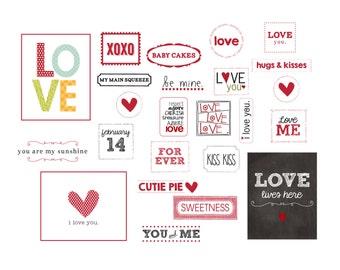 Valentine Label Bundle