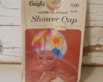 Vintage Gayla Shower Cap, Shower Hat