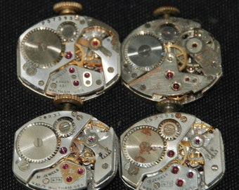 Vintage Watch Movements Parts Steampunk Altered Art Assemblage R 73