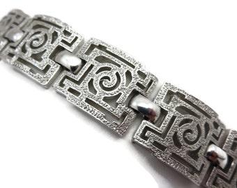 Trifari Bracelet - Silver Link Costume Jewelry