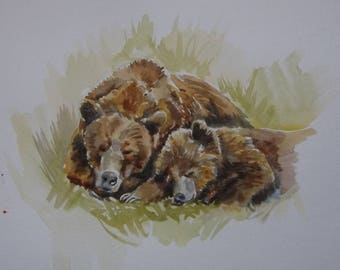 Sleeping Bears - Original Painting