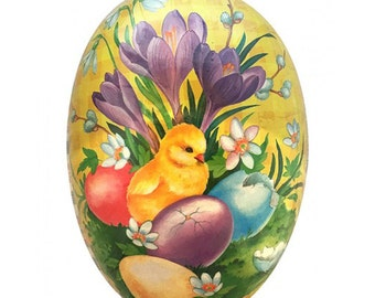 "German Paper Mache Easter Egg Box  3-1/2""  PME523P"