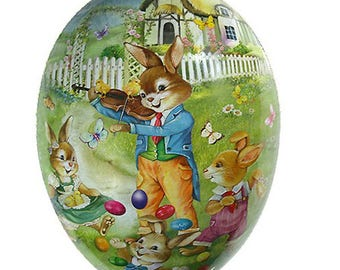 "Germany Papier Paper Mache Easter Egg Box  3-1/2""  PME739P"