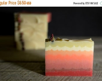 ON SALE Rosie Rose Soap | Natural Luxury Soap | Cocoa Butter Soap | Rose Soap | Hombre Pink Soap | Fatty's Soap Co.