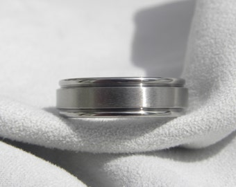 Titanium Ring or Wedding Band, 6mm size 6.75, Clearance Listing