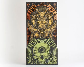 Large Screenprinted Shrine: The Warrior