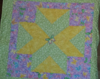 dancing butterflies and dragonflies baby quilt