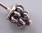 Bali Sterling Silver Headpins B454 (4), Bali Headpins, Coiled Sterling Silver Head Pins, Sterling Headpins, Fancy Headpins