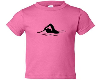 Toddler swimmer t-shirt - MORE COLORS AVAILABLE