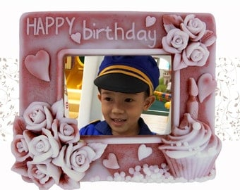 Happy Birthday Day Photo Frame - 2d handmade custom soap