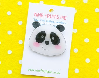 Giant Kawaii Panda Brooch