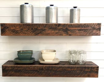 Floating Shelves, Set of Two Deep Rustic Floating shelves, Rustic floating shelf, floating shelves, 36 inch floating shelf, Deep shelves