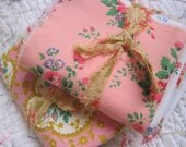Patchwork - French Floral Fabric Bundle - Lot of 10 Pieces