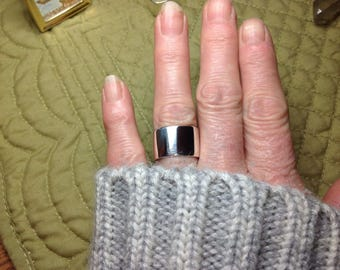 Wide band ring Sterling silver size 6