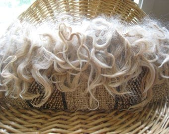 Blond Alpaca Locks Doll Hair Washed 5 Inch Staple Variagated Wavy Soft Luster Needle Felt Locks Spinning Fiber Socks Sturdy Heel Toe Binder