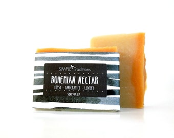 Artisan Soap | Soap Men | Soap for Her | Patchouli | Bohemian Nectar | Cold Process | Vegan Soap | Homemade Soap | Handcrafted Soap | Soap