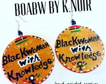 Blackwoman With Knowledge Earrings