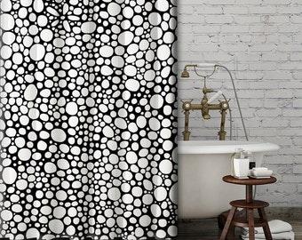 black white shower curtain funky shower curtain modern shower curtain mod black white bathroom accessories mod