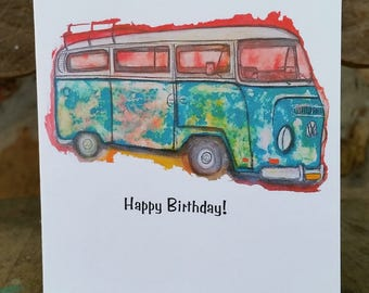 Happy Birthday Van, or All occasion, Set of 6,  see photos, 4 x 6, blank inside