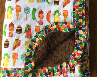 Very Hungry Caterpillar Lap Sized Blanket ...Ready to ship