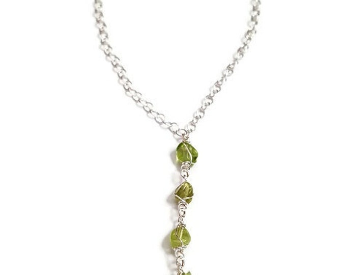 Peridot in Paradise Sterling Silver Necklace