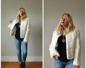 ON SALE Deadstock, NWT 1980s Rabbit Fur Coat >>> Size Extra Small to Small