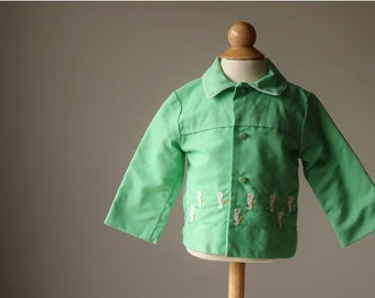 ON SALE 1960s Spring Seahorse Jacket, size 6-12 months