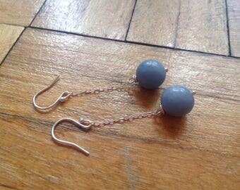 long earrings, baby blue , pastel earrings, angelite .