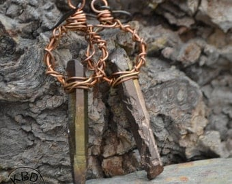 Bronze Age Spike Earrings