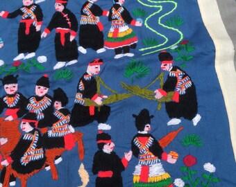 Peruvian Handmade Embroidered Pillowcase