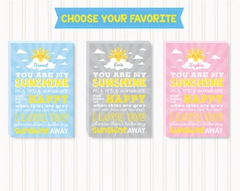 FREE SHIPPING WORLDWIDE! - Canvas Nursery Wall Art - You are my Sunshine