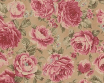 Antique Rose Fall 2016 vintage inspired floral fabric - Lecien Japan, Rose L31298-10 Select a length