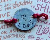 Love Penny Project Adjustable Red String Bracelet