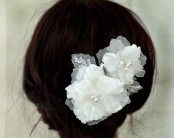 30% Off Sale Silk flower Bridal Headpieces, Wedding Hair Pieces, Ready to ship, Pure Silk Hair Flowers Bridal Hair Combs, Wedding Hair Acces