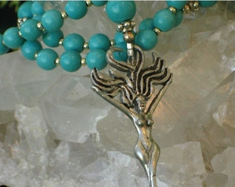 Sale 2017 Turquoise Magnesite Rosary Necklace Wild Hair Goddess