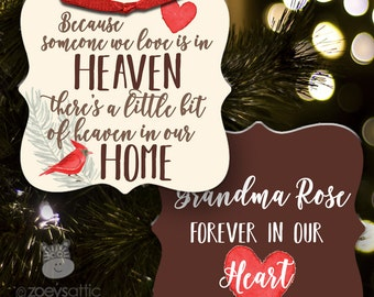 Someone we love is in heaven memorial ornament HITHOC
